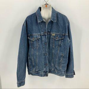 Levi Strauss Jean jacket w/Harley Davison patch XL